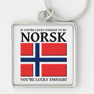 Lucky Enough To Be Norsk Keychain