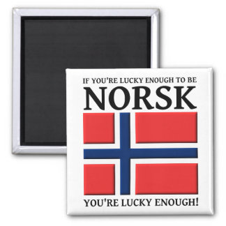 Lucky Enough To Be Norsk Magnet