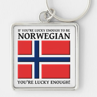 Lucky Enough To Be Norwegian Keychain