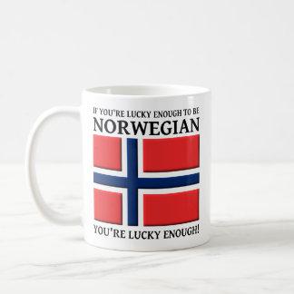 Lucky Enough To Be Norwegian Mug