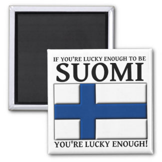 Lucky Enough To Be Suomi Finnish Magnet