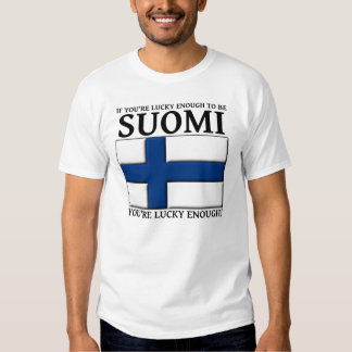 Lucky Enough To Be Suomi Finnish Shirt