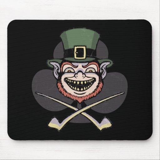 Lucky Evil Leprechaun Mousepad