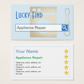 """Lucky Find"" Appliance Repair Business Cards"
