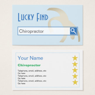 """""""Lucky Find"""" Chiropractor Business Cards"""