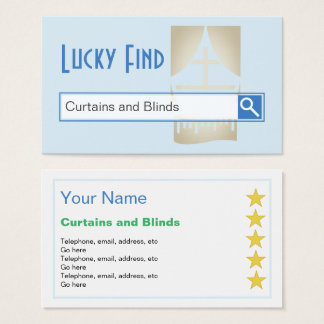 """""""Lucky Find"""" Curtains and Blinds Business Cards"""