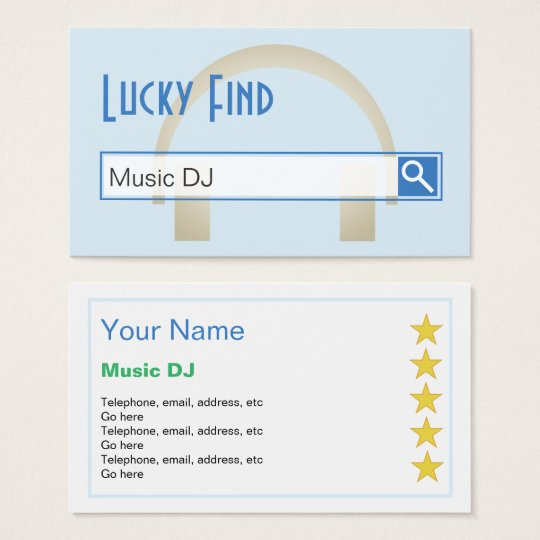 Dj business cards zazzle image collections card design and card lucky find music dj business cards zazzle lucky find music dj business cards reheart image collections reheart Choice Image