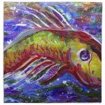 Lucky fish cloth napkins