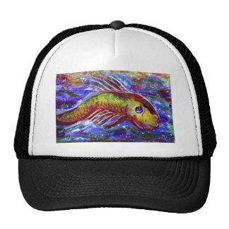 Lucky fish mesh hat