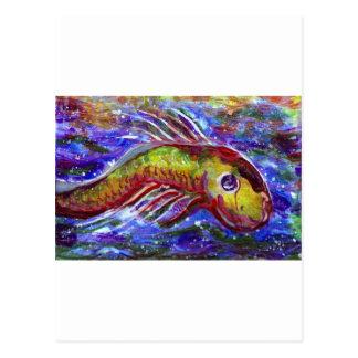 Lucky fish postcard