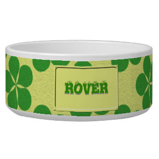 Lucky Five Leaf Clovers Bowl