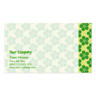 Lucky Five Leaf Clovers Business Card Template