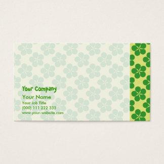 Lucky Five Leaf Clovers Business Card