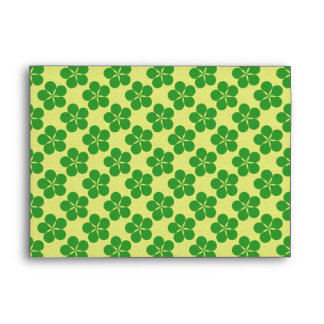 Lucky Five Leaf Clovers Envelope