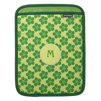Lucky Five Leaf Clovers Sleeves For iPads