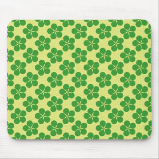 Lucky Five Leaf Clovers Mouse Pad