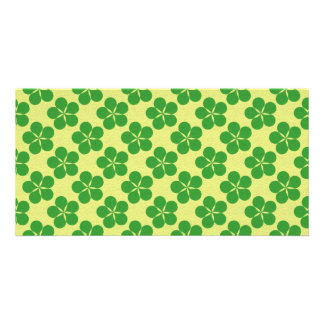 Lucky Five Leaf Clovers Photo Card