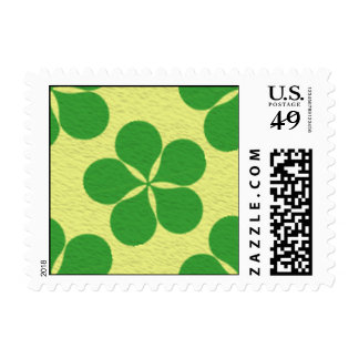 Lucky Five Leaf Clovers Postage