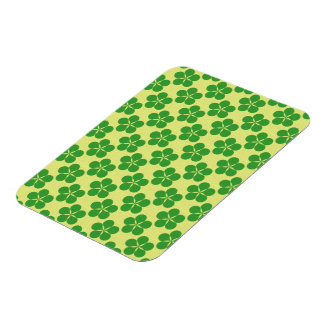 Lucky Five Leaf Clovers Flexible Magnet