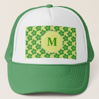 Lucky Five Leaf Clovers Trucker Hat