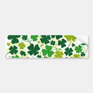 Lucky Floral Clovers Bumper Sticker