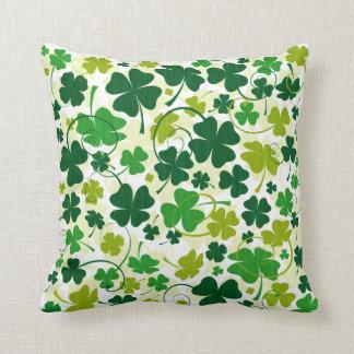 Lucky Floral Clovers Pillow