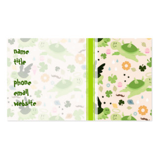 Lucky Flying Turtles Pattern Double-Sided Standard Business Cards (Pack Of 100)