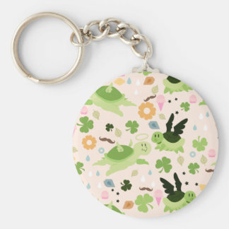 Lucky Flying Turtles Pattern Keychains