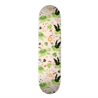Lucky Flying Turtles Pattern Skate Board Deck