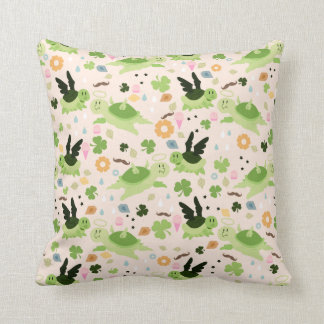 Lucky Flying Turtles Pattern Throw Pillows