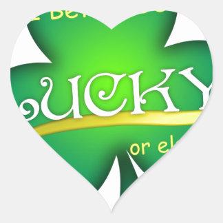 Lucky for St Patricks Day Heart Sticker