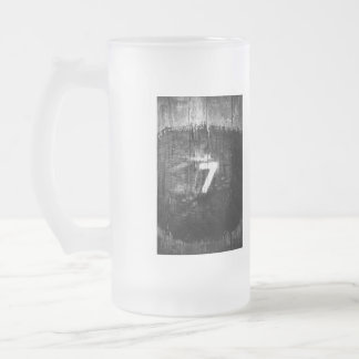 lucky for sum frosted glass beer mug