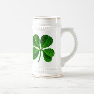 Lucky Four Leaf Clover Beer Stein
