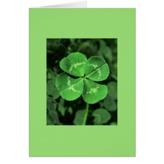 LUCKY FOUR-LEAF CLOVER Blank Note Card