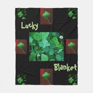 Lucky Four Leaf Clover Blanket Fleece Blanket