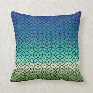 Lucky Four Leaf Clover Blue Green White Rainbow Pillows