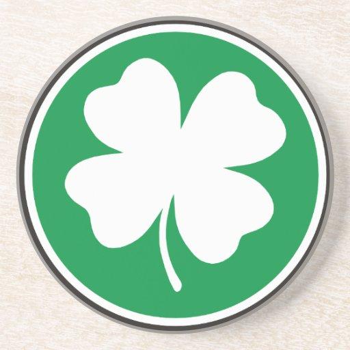 Lucky Four Leaf Clover Coasters