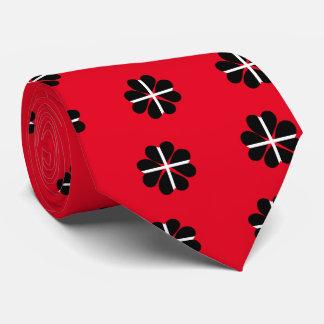 Lucky Four Leaf Clover Cornish Flag Tie