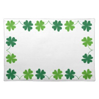 Lucky Four-Leaf Clover Design Placemat