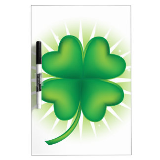 Lucky Four Leaf Clover Dry-Erase Board