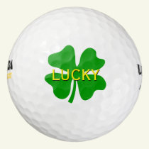 Lucky four leaf clover golf balls | Personalizable