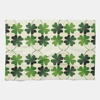 Lucky Four-Leaf Clover Hand Towel
