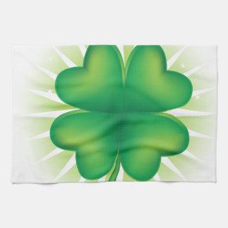 Lucky Four Leaf Clover Hand Towel