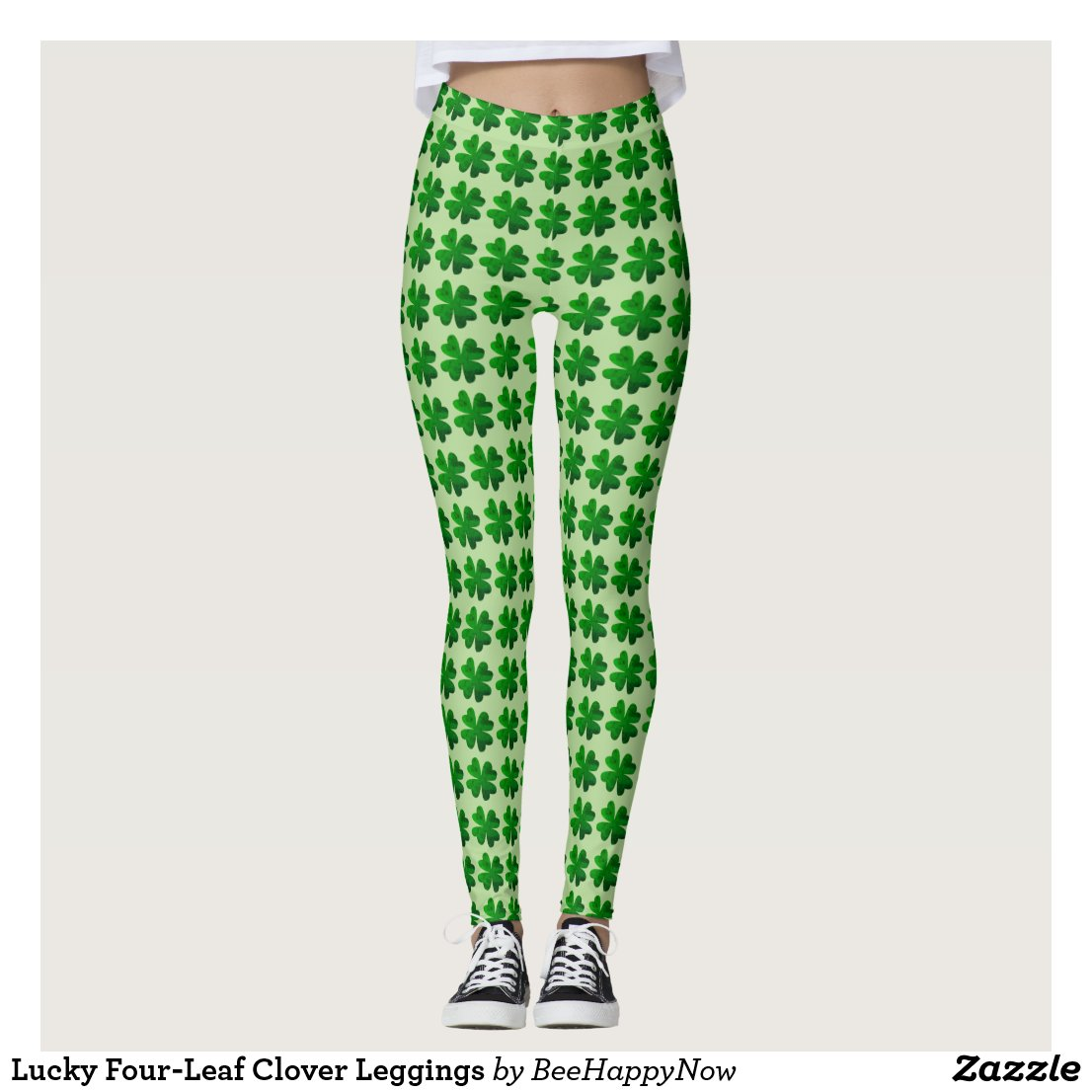 Lucky Four-Leaf Clover Leggings