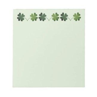 Lucky Four-Leaf Clover Notepad