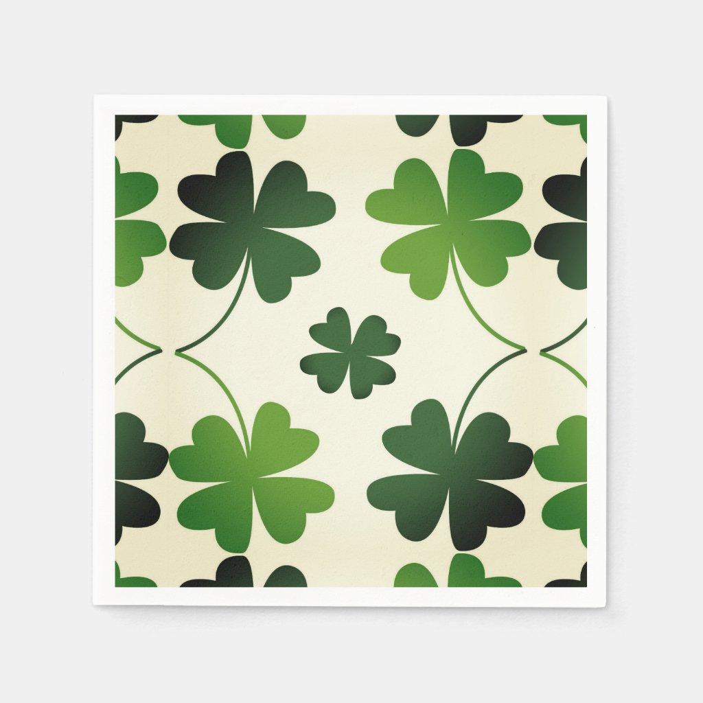 Lucky Four-Leaf Clover Paper Napkins