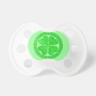 Lucky Four Leaf Clover Shamrock Art Pacifier BooginHead Pacifier