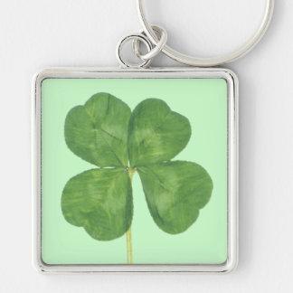 Lucky Four-Leaf Clover Shamrock Keychain
