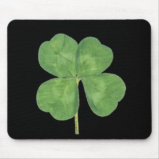 Lucky Four-Leaf Clover Shamrock Mouse Pad