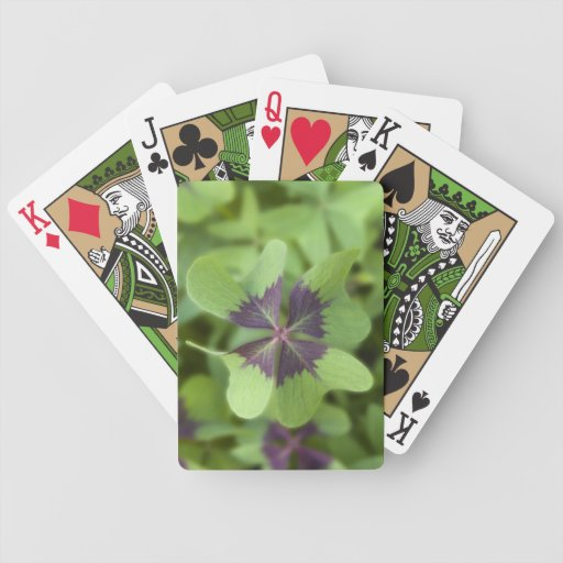 Lucky Four-Leaf Clover Shamrock Playing Cards